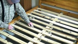 how to fix a bed frame