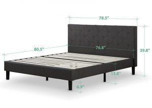 how wide is king sized bed frame